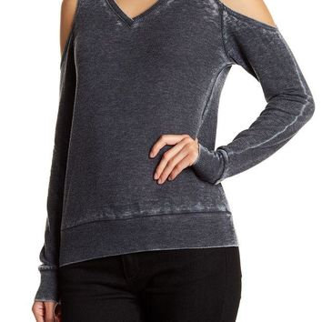 Go Couture | Thermal Cold Shoulder Sweater