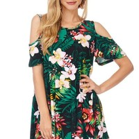 Maui Nights Cold Shoulder Tunic Top