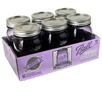 Ball® Heritage Collection Purple Pint Jars, 6 Pack