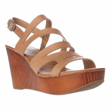 Lucky Brand Marinaa Wedge Strappy Sandals, Clay, 11 US