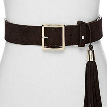 Michael Michael Kors Pick Stitch Tasseled Suede Belt
