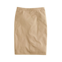 J.Crew Womens Tall Pencil Skirt In Stretch Cotton