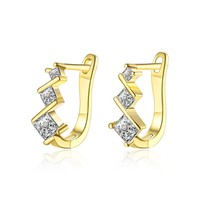 Swarovski Elements Intertwined Clip On Earrings