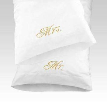 Marseille Embroidered Pillow Cases