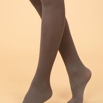 Semi-Sheer Tights Grey