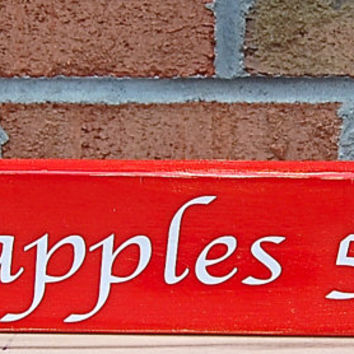 Apples 5 Cents Hand Painted Reclaimed Wood Wall Art, Fall Wood Sign,Wooden Hand Painted Sign,Autumn Home Decor,Rustic Autumn Sign,Fall Decor