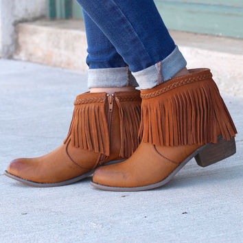 Corky's: Arcadia Fringe Braid Ankle Boot {Brown}