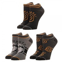 Naruto Youth Ankle Socks 3-Pack