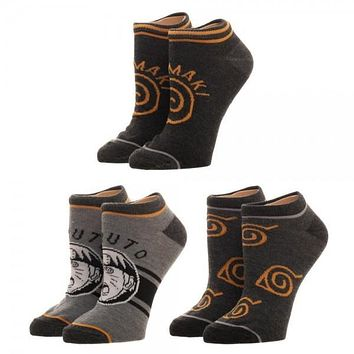 Naruto Youth 3 Pack Ankle Socks