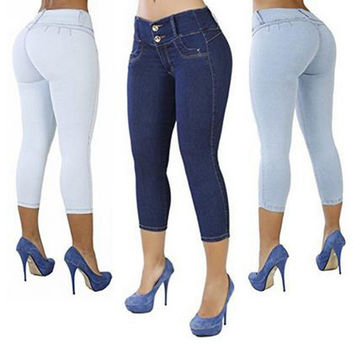buttocks solid color self-cultivation 7 points pants [11641661135]