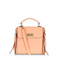 Orange Short Flap Mini Satchel