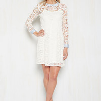 Collar ID Lace Dress in Ivory | Mod Retro Vintage Dresses | ModCloth.com