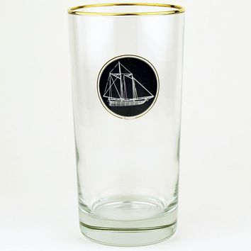 America's Cup High Ball Glasses by Richard E. Bishop