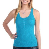 racer back tank top with one pocket front