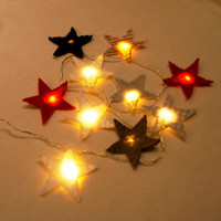 Star Felt String Lights, Star night light felt, nursery light, Christmas light, twinkle lights, Christmas decor, twinkle light garland
