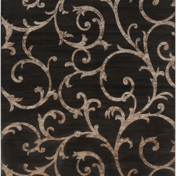 Surya Neptune Medallions and Damask Black NEP-1006 Area Rug