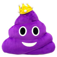 Poop Emoji Pillow - Purple