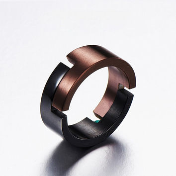 The Man Ring/ Gift for Boyfriend Anniversary/Unique Mens Ring/Cool Mens Ring/Steampunk Men Ring/Hipster Jewelry Ring/Rings for Men
