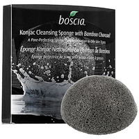 Konjac Cleansing Sponge With Bamboo Charcoal - boscia | Sephora