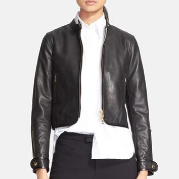 Women's rag & bone 'Carriage' Leather Biker Jacket,