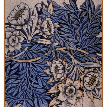 William Morris Tulips and Willows Design Sketch Counted Cross Stitch or Counted Needlepoint Pattern