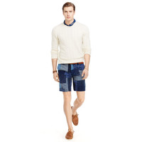 STRAIGHT-FIT PATCHWORK SHORT