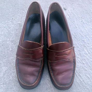 Vintage brown penny loafers, womens US size 7