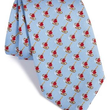Men's Vineyard Vines 'San Diego Padres - MLB' Print Silk Tie, Size Regular - Blue