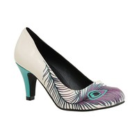 Womens T.U.K. Peacock Feather Heel