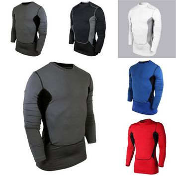 2018 New Compression Base Cozy Men's Layer Sports Wear Long Sleeve Blouse Athletic Man Tops Gear Jersey