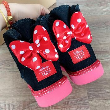 UGG Autumn And Winter New Fashion Wave Point Bow Keep Warm Shoes Boots Women