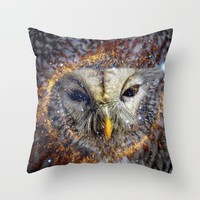 Mystic Owl Throw Pillow by lostanaw