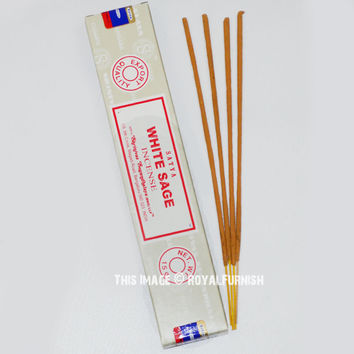 Satya Sai Baba White Sage Incense Sticks 15 Gram on RoyalFurnish.com