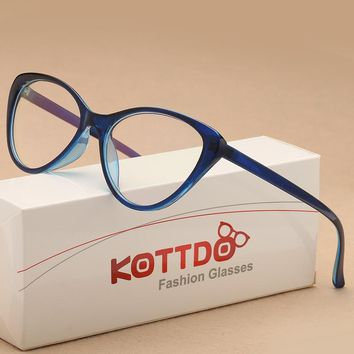 67479749363 KOTTDO 2018 fashion Vintage Cat Eye Glasses Frame Eyeglasses Wom