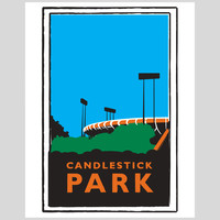 Candlestick Park Print by Dustin Canalin
