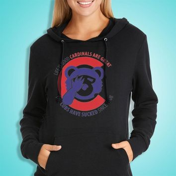 Chicago Cubs Without Circle Parody Women'S Hoodie