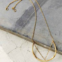 Studebaker Metals X UO Chained Geo Necklace- Gold One
