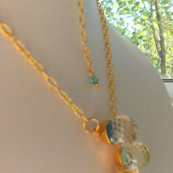 crystal ball necklace by Windychimes on Etsy