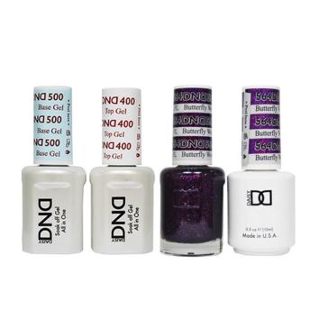 DND - Base, Top, Gel & Lacquer Combo - Butterfly World FL - #564