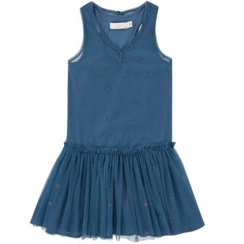 Stella McCartney Girls Blue 'Tulle' Dress