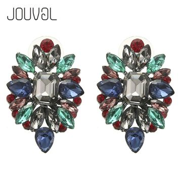 2017 Rhinestone Stud Earrings For Girls Women Earring Ear Studs Earing Broncos Statement Crystal Earings Fashion Gift E1113