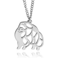Cute Puppy Dog Memorial Gift Siberia, Alaska Dog (Husky) Animal Hollow Pendants Necklaces For Women Fashion Jewelry
