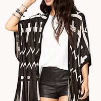 Geo Girl Cross Cardigan