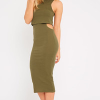 Allie Midi Dress Khaki