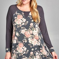 Gypsy Floral French Terry Tunic Top