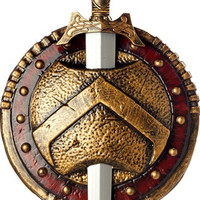 Spartan Combat Shield & Sword