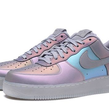 NIKE Air Force 1 Gradient Camouflage For Women Men Running Sport Casual Shoes Sneakers