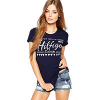 New Women Harajuku T-shirt 2017 European Minimalist Character Letter Print T Shirt Female O-neck Short Sleeve Tops