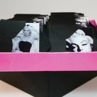 Marilyn Monroe Gift Tags Note Cards Mini Envelopes Stationery Set Black and White Bridesmaid Thank You
