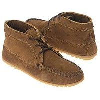Women's Minnetonka Moccasin  Suede Ankle Boot Dusty Brown Shoes.com